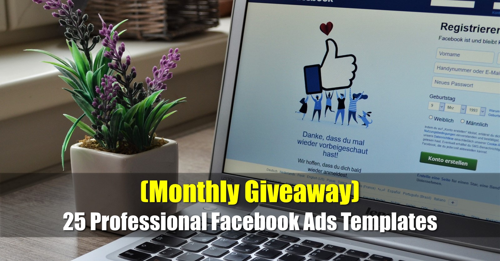 giveaway facebook ad templates